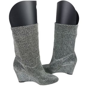 Athena Alexander Silver Mid Calf Slouchy Boots
